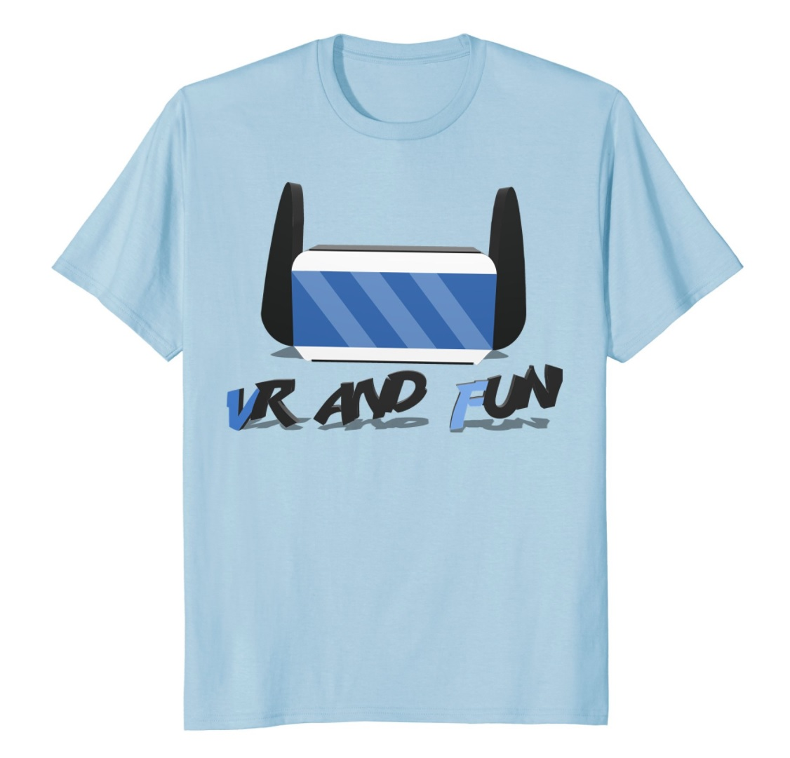 vr and fun t-shirt blue