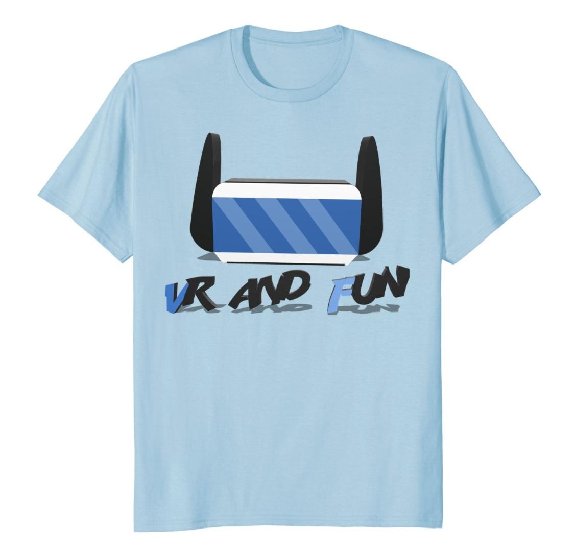 vr and fun t-shirt blue
