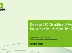 nvidia 391.24 driver update