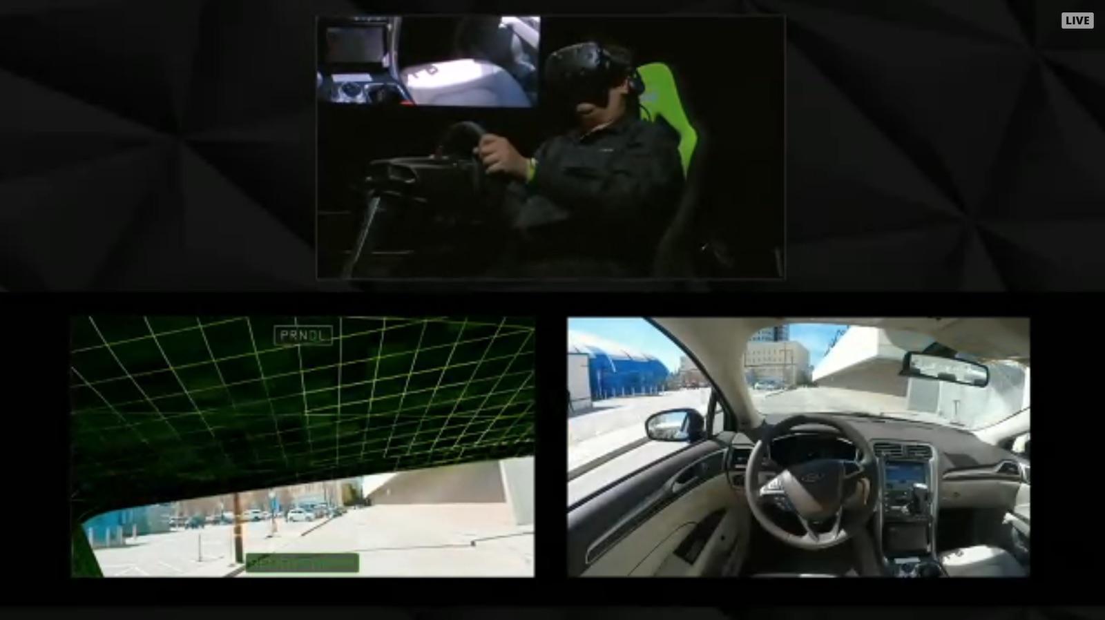 nvidia driving car in vr