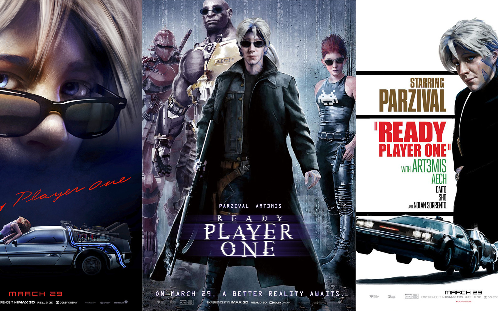 Warner Bros. Releases A Variety Of Ready Player One Posters Referencing Famous Movies