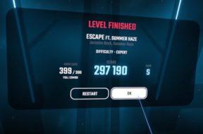 beat saber escape 100 percent clear