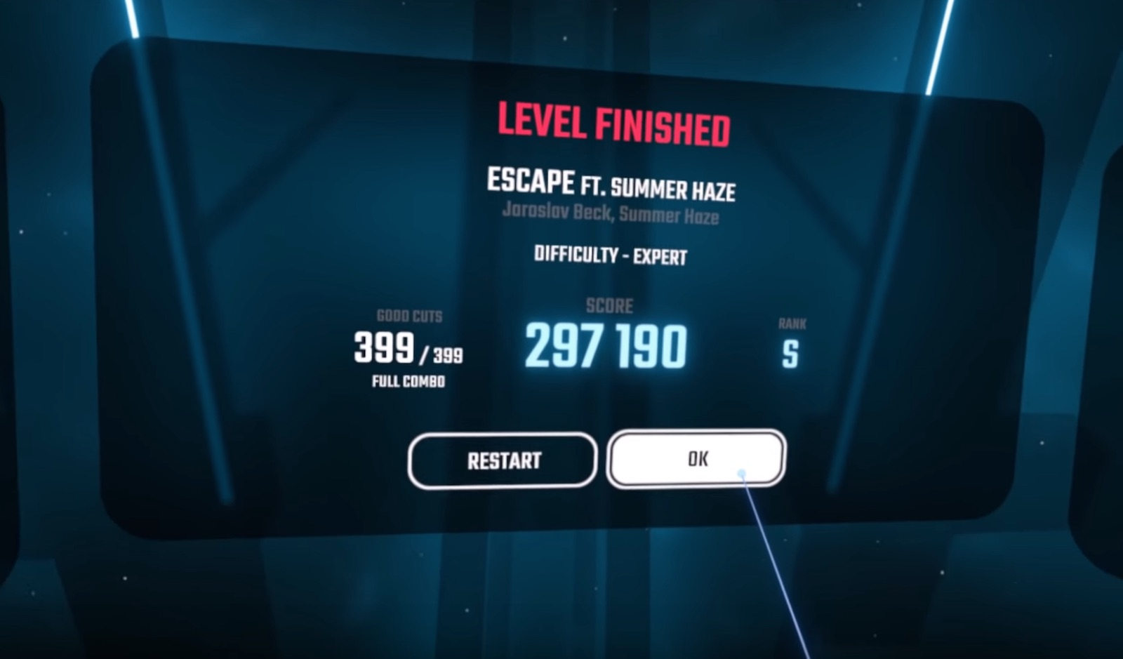 Beat Saber – Escape Has Just Been Beaten At 100% Expert Mode By This YouTuber