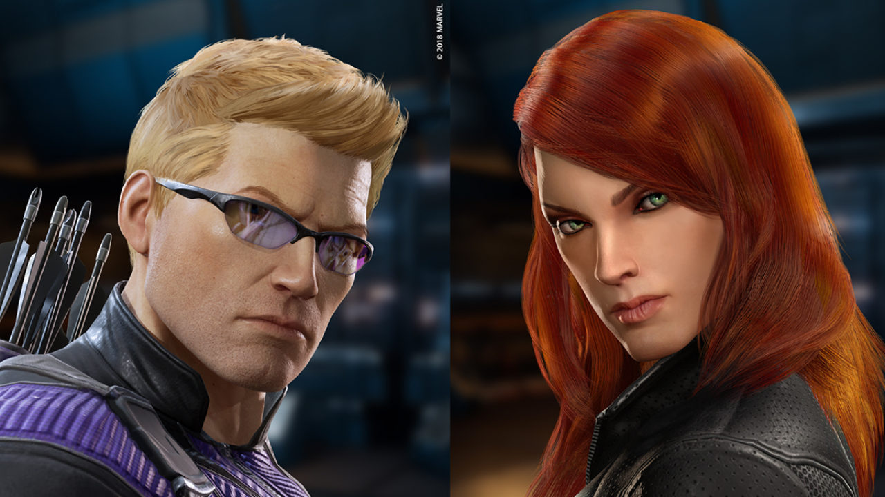 Hawkeye And Black Widow Announced For Marvel Powers United