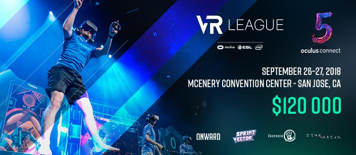 VR League Grand Finals Will Be Taking Place At Oculus Connect 5 For $120,000 In Prizes