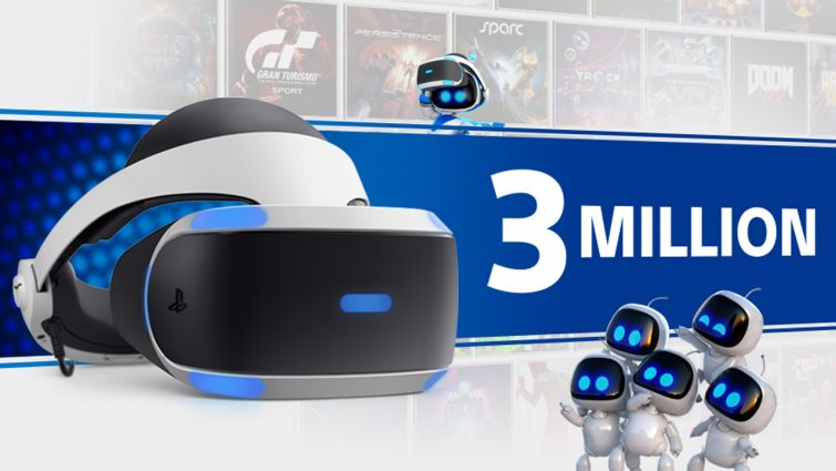 Sony Has Now Sold 3 Million PSVR Headsets
