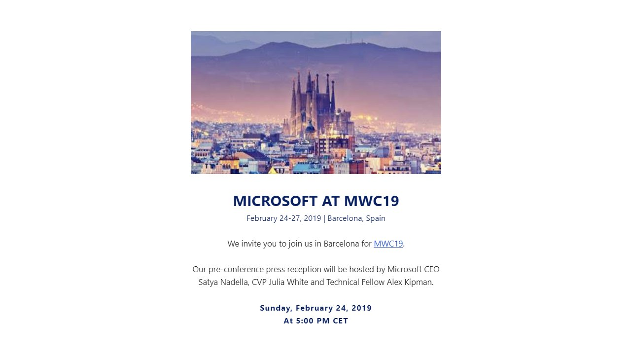 microsoft hololens 2 mwc event