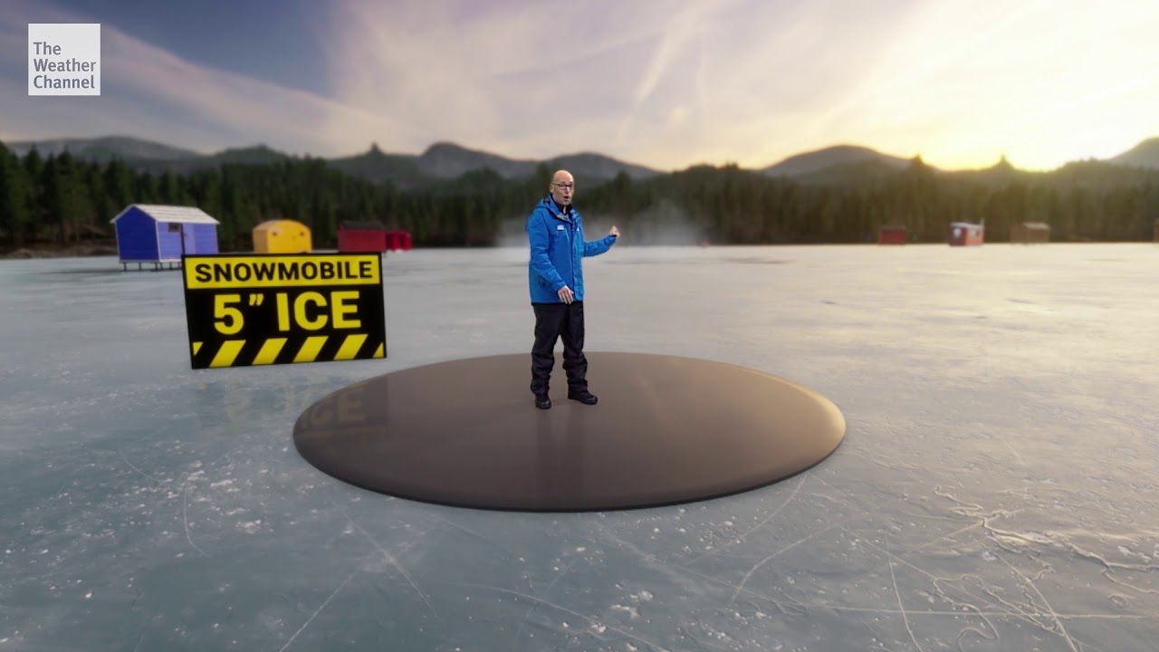Check Out How The Weather Channel Is Using AR Tech To Show Icy Weather Conditions