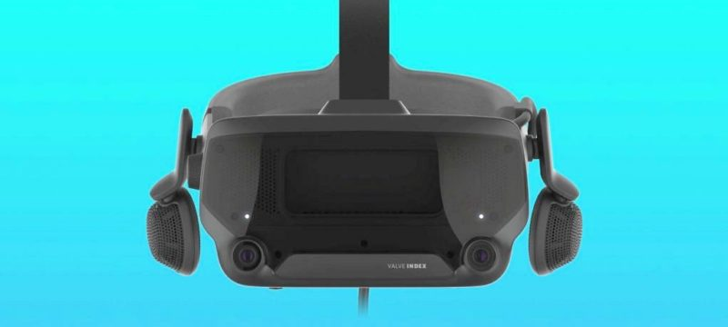 valve index vr headset brightened